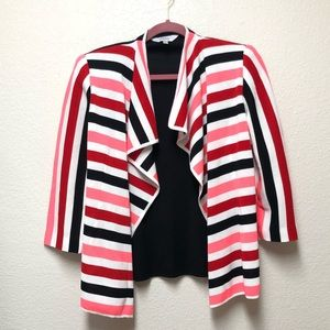 Exclusively Misook Striped Cardigan